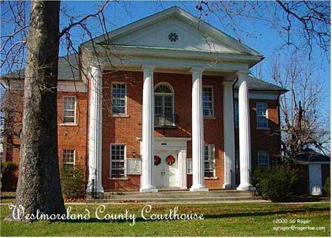 Westmoreland County Circuit Courthouse, Montross, Westmoreland Co., VA