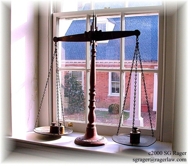 Scales of Justice, Richmond County Circuit Courtroom, Warsaw, VA