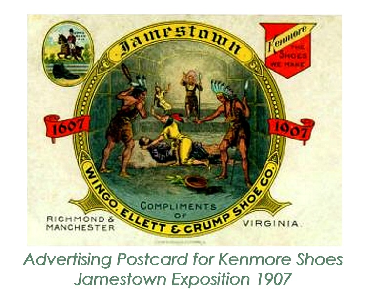 Advertising Postcard from Jamestown Exposition in 1907