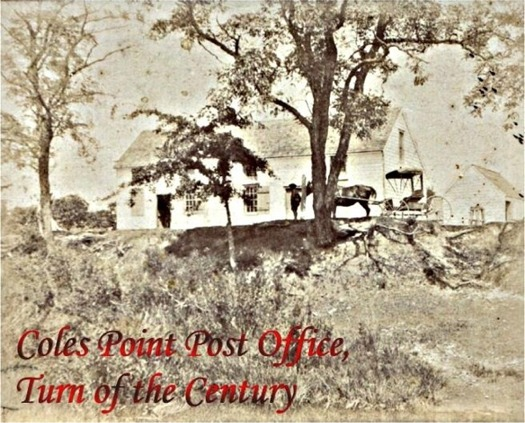 Post Office, Coles Point, VA, from Turn of the 20th Century