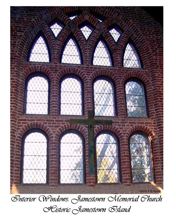 Interior Windows of Memorial Church at Jamestown