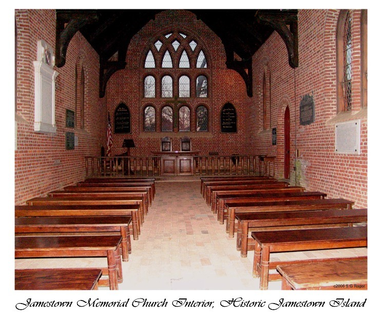 Jamestown - Memorial Church Interior