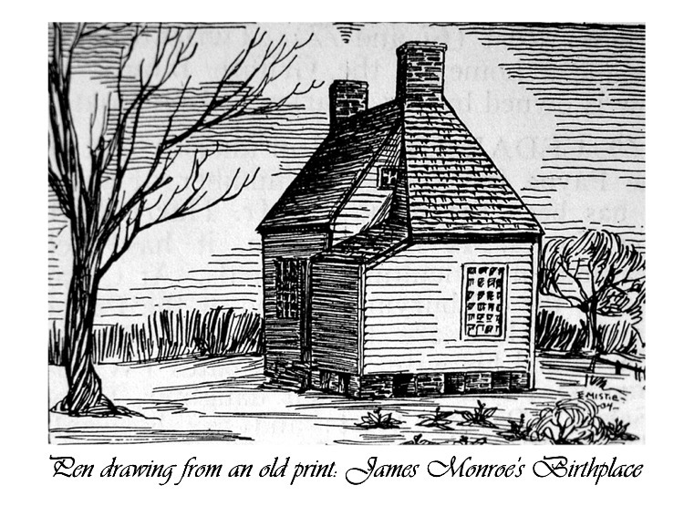 Monroe Birthplace Drawing