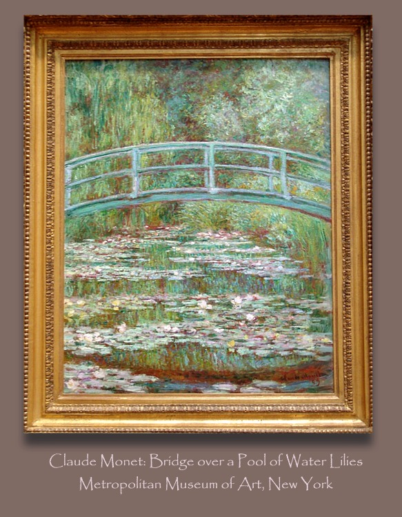 NYC:Bridge over Pool of Water Lilies by Monet