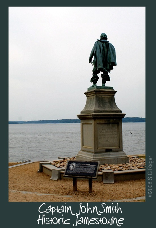 Statue of Captain John Smith, overlooking the James River at Historic Jamestowne