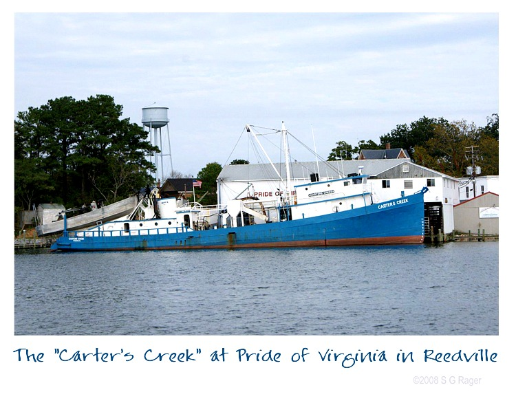 "The ""Carter's Creek"" at Pride of Virginia in Reedville, Virginia"