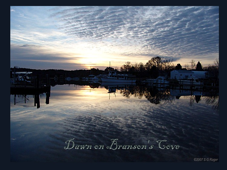 Dawn on Branson's Cove