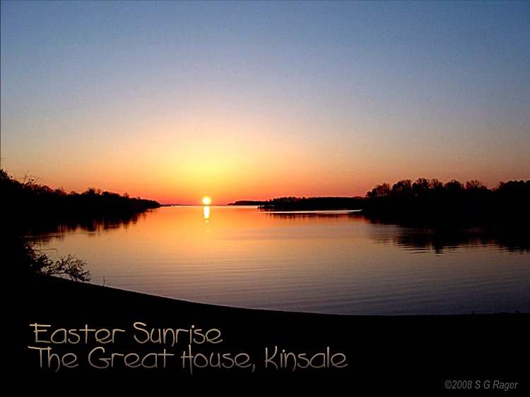 Easter Sunrise at the Great House, Kinsale, Westmoreland County, VA