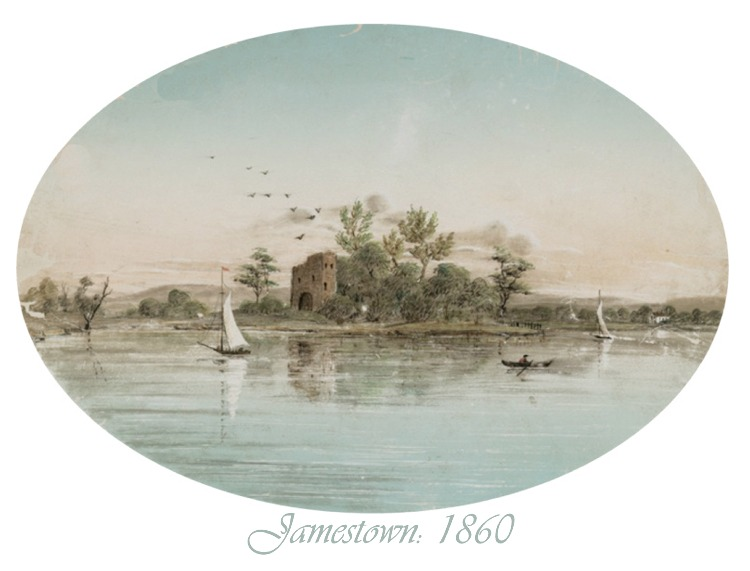 Jamestown Depicted in 1860