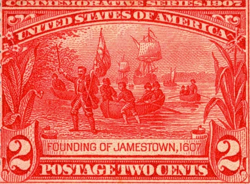Jamestown Founding 1907 Stamp