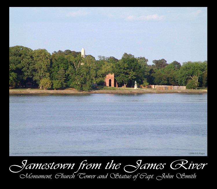 Jamestown as seen from James River