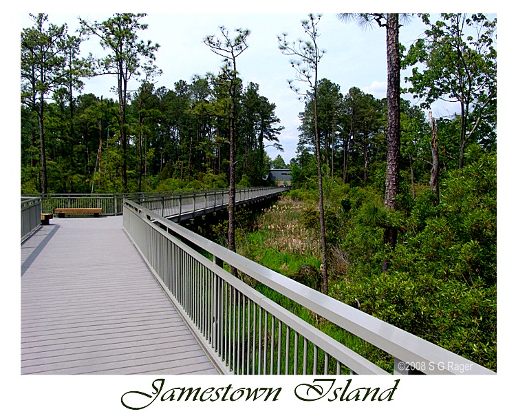 Walkway from Visitor Center to Historic Jamestowne