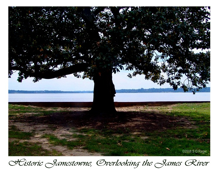 Overlooking the James River from Historic Jamestowne