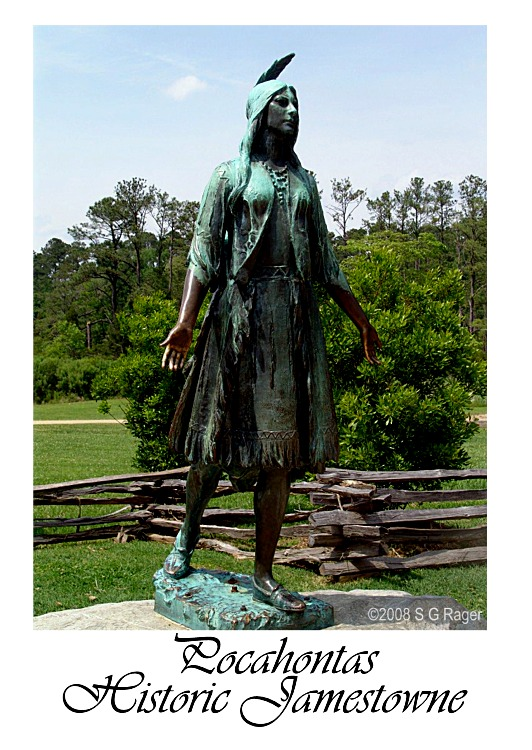 Pocahontas Statue at Historic Jamestowne