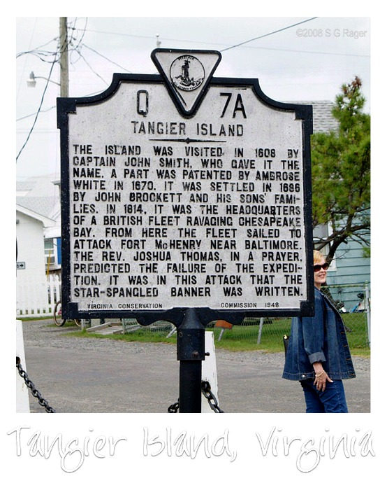 Tangier Island Historic Marker